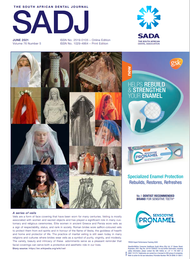 View Vol. 76 No. 5 (2021): South African Dental Journal