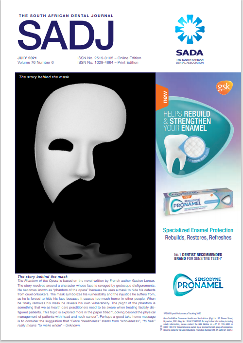View Vol. 76 No. 06 (2021): South African Dental Journal