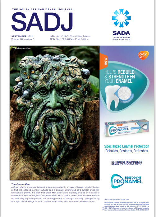 View Vol. 76 No. 08 (2021): The South African Dental Journal