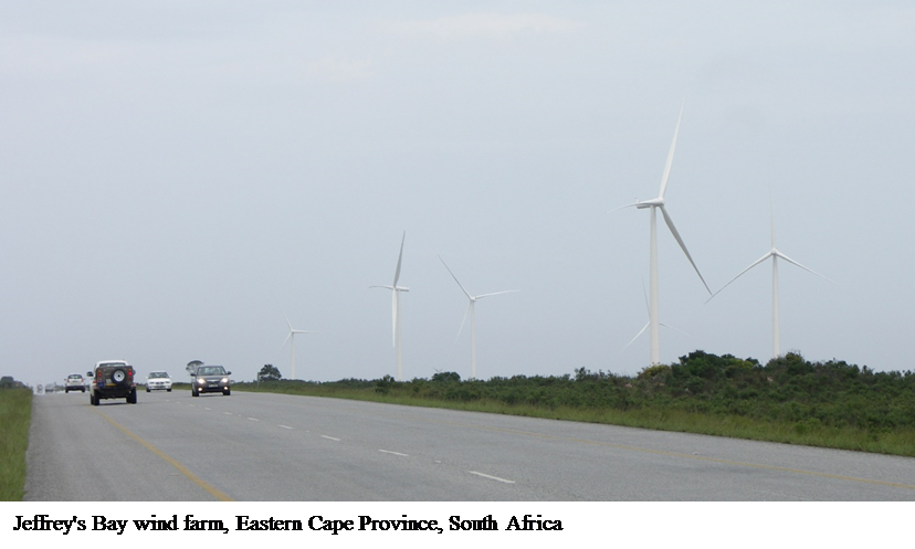 South African wind farm yield predictions match those from other established wind markets in Europe and North America