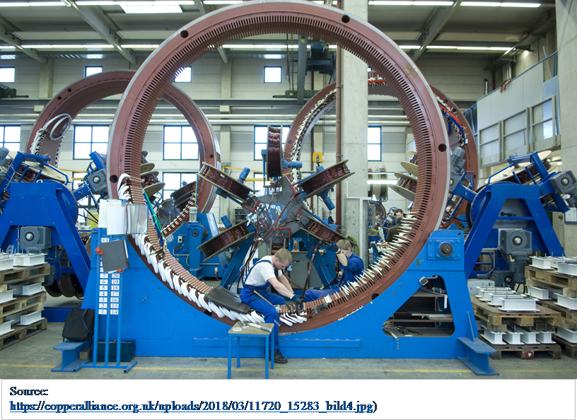 It is cheaper to use mainly copper to manufacture wind generators in South Africa