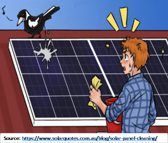 Soiling mismatches current generation in photovoltaic cells